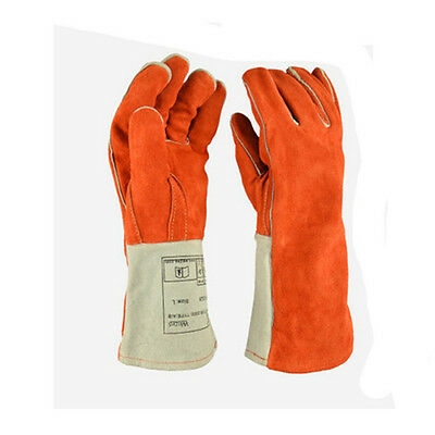 Fireproofing Glove Anti High Temperature Heat Resistant Leather Thickening Indus