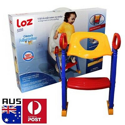 Baby Kids Potty Chair Child Safety Training Toilet Seat Step Up Ladder Trainer