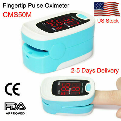 FDA US Finger Tip Pulse Oximeter Oxymeter Blood Oxygen Saturation SPO2 Monitor