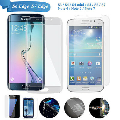 Galaxy S8/S8 Plus/S6 / S7 Edge S5 S4Tempered Glass screen Protector For Samsung
