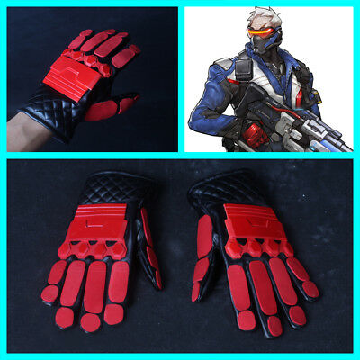 Overwatch 76 Soldier OW Game Cosplay Costume Prop Hand Gloves