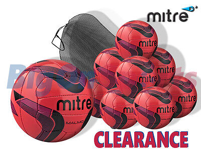*CLEARANCE NEW* 10 x 2014 MITRE MALMO + MESH SACK - PINK/PURPLE/BLACK - SIZE 3