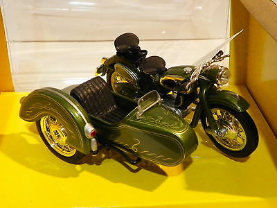 Sidecar GERMAN MOTORCYCLE motorbike1:18 DIE CAST plastic metal MINIATURE COLLECT