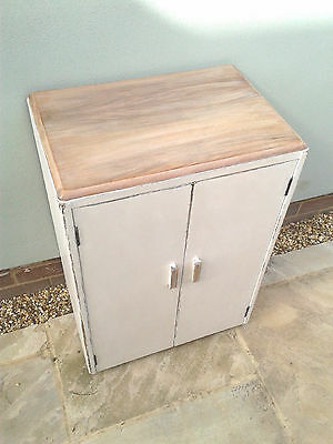 Shabby Chic Linen Cupboard - Washed Wood Top