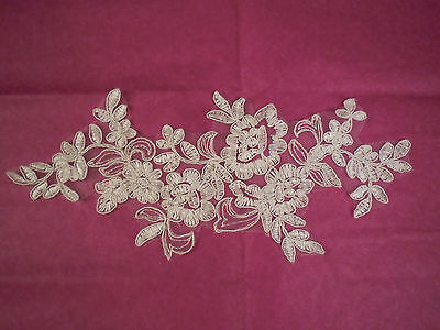 Ivory bridal wedding floral lace Applique / ivory lace motif Sold by per piece