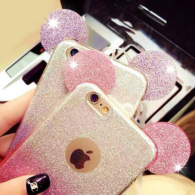 a349cf69665 3D Minnie Mickey Mouse Ears silicone Gradient Soft Case Cover for iPhone 6  6Plus
