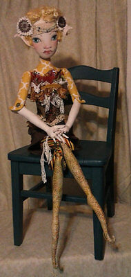 """*new* Cloth Art Doll (Paper) Pattern """"kimama Elven Fae"""" By Paula Mcgee"""