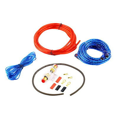 800W 8GA Car Audio Subwoofer Amplifier AMP Wiring Fuse Holder Wire Cable Kit AO