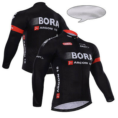 New Mens Winter Fleece Cycling Jerseys Thermal Long Sleeve MTB Bicycle Jackets