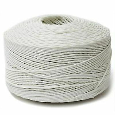 #6 Ludlow Polyester Twine White 5 lb spool Upholstery Spring Tying Stitching