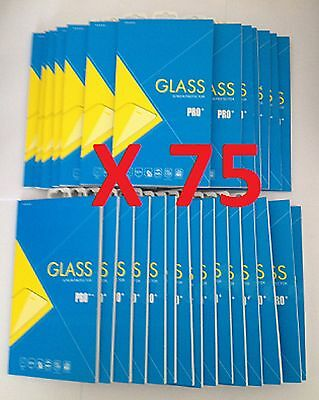 Joblot of 75 pcs - Tempered Glass Screen Protectors for Samsung Galaxy S7 *NEW*