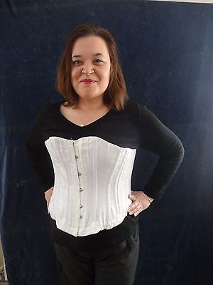 White Victorian Style Corset- Medium - New  - Re-Enactment -Theatre - Larp