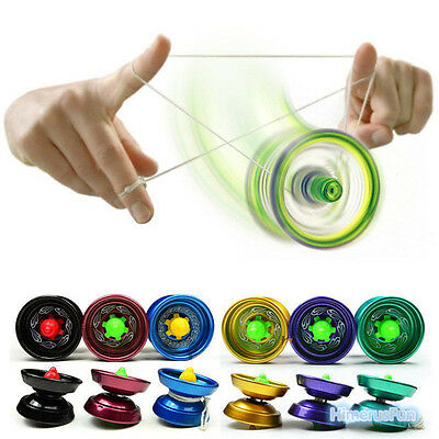 Cool Aluminum Design Professional YoYo Ball Bearing String Trick Alloy Kids