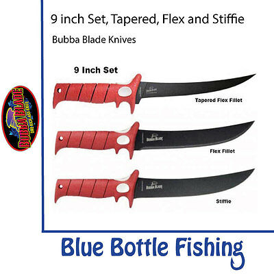 Bubba Blade - 9 inch Set - Stiffie + Flex Fillet + Flex Fillet Tapered