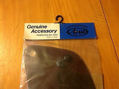 Nos Arai Rs-Z Helmet Shield Visor Lens 142-9010 Japan, Smoke Freeshipus+Can
