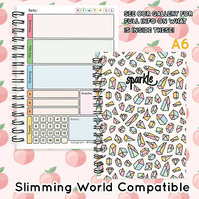 Diary Planner, Speedy,Easy, Notebook, Diet,Slimming World Compatible A6 SPARKLE1