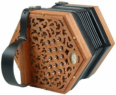 NEW Concertina Connection Clover Anglo Concertina Wood C G M 30 Button Wakker