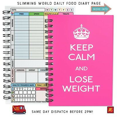 Diet Food Diary Slimming World Compatible Planner Tracker Log Book Weight Loss 5