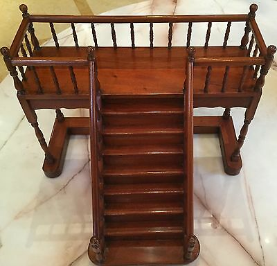 "Magnificent 1900 English Miniature Hand Carved Stairs ""estate Of Bob Hope"""