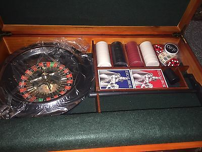 New Excalibur Electronics 6 In 1 Portable Casino Set Great for Travel & Vacation