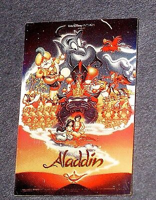 RARE LE Disney Pin✿One Sheet Framed Movie Poster Aladdin Genie Robin Williams