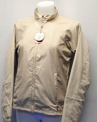 New Ladies SMALL Antigua National long sleeve polyester golf jacket Ash