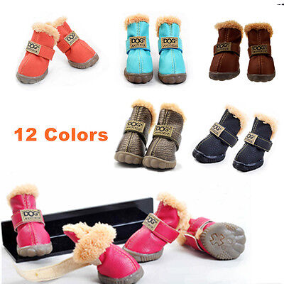 Pet Dog Winter Boots Rain Shoes Socks Waterproof Anti-Slip Puppy Snow Booties