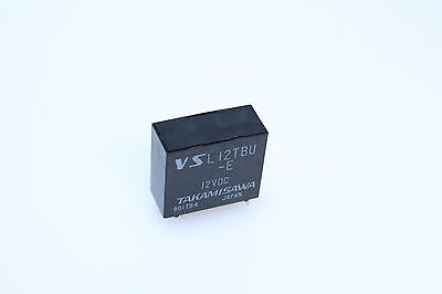 TAKAMASAWA VSL-12TBU-E SPDT 12VDC 10A Latch PCMT  Relay New Lot Qty-3