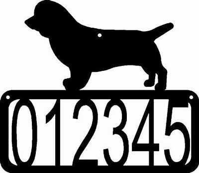 Sussex Spaniel Dog CUSTOM Personalized Metal ADDRESS House Number Sign Made USA