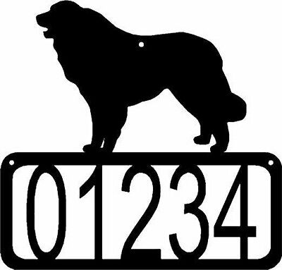 Great Pyrenees Dog CUSTOM Personalized Metal ADDRESS House Number Sign Made USA