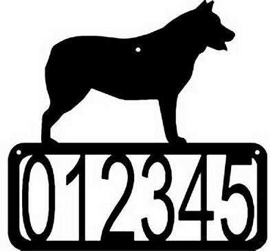 Cattle Dog CUSTOM Personalized ADDRESS House Number Wall Sign Made USA