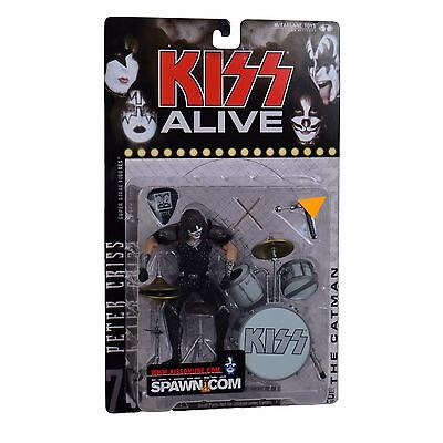 "KISS Collectible: 2000 McFarlane Alive Catman Peter Criss 7"" Figure - NEW"