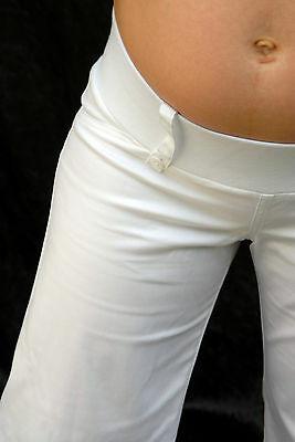 Maternity – white or black stretch waist capri cargo shorts -  great for summer
