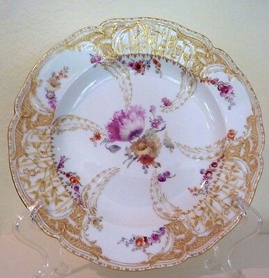 KPM Rococo Plate Painted Gilt Potsdam Stadtschloss Fredrick Great Dinner Service
