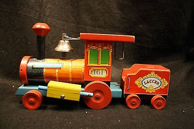 Vintage Fisher Price FP Pull Toy 161 Looky Chud-Chug Train Engine L&CCRR 1949