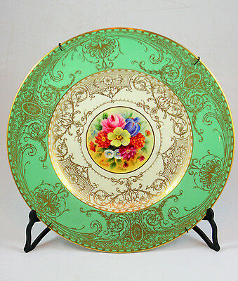 Royal Worcester English Porcelain Plate, with Floral Motif