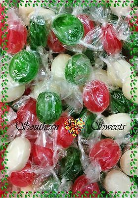 Christmas Lollies Xmas Red White Green Wrapped Candy 1Kg Approx 200Ct
