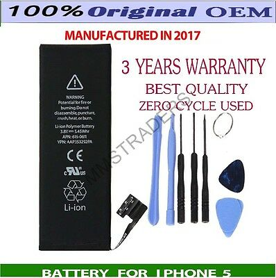 Genuine Replacement Battery For Apple iPhone 5 5G Li-ion 1440 mAh With Free Tool