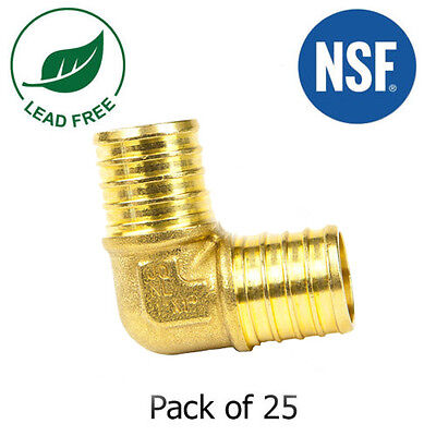"(25) 1/2"" PEX Elbow - Brass Crimp Fitting"