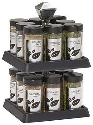 Kamenstein Madison 16-Jar Revolving Spice Rack with Free Spice Refills for 5 Yea