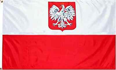 "Poland ""State/Ensign Eagle"" Flag: 3x5 foot Poly"