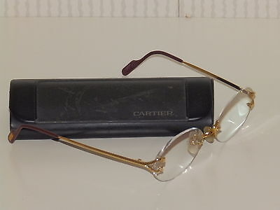 Frameless Rimless Cartier glasses genuine 18 k gold