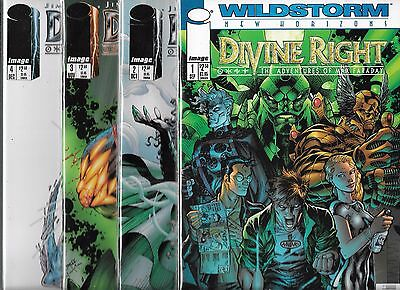 Divine Right Lot Of 4 - #1 #2 #3 #4 # (Nm-) Jim Lee, Image Comics