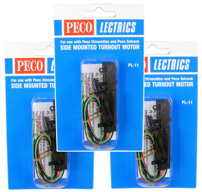 Peco Side Mounted Turnout Point Motor (Pack of 3) PL-11X3
