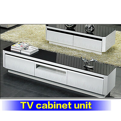 New TV Entertainment Unit Modern High Gloss Stand Cabinet Buffet Drawers