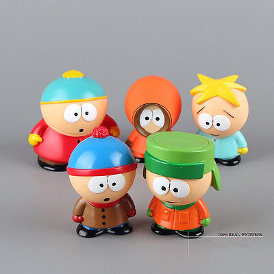 5pcs / set South Park Kyle Butters Stan Cartman Kenny Figures Toy HOT