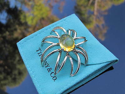 Tiffany & Co RARE Silver Fireworks Citrine Brooch Pin!