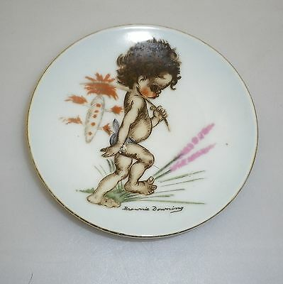 Brownie Downing 1950's pin dish of an Aboriginal Child carrying a bag