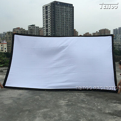 Good Price Home Outdoor Portable White HD Projector Screen Curtain 150 Inch 16:9