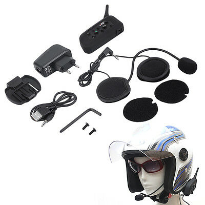 V6 1200m Bluetooth Intercom for Motorcycle Helmet Headset Interphone AO